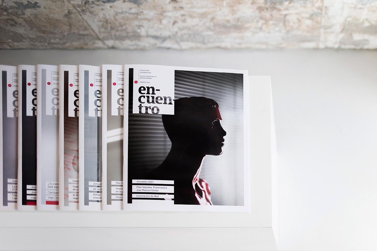 Revista Encuentro Seguros Bilbao Diseño Gráfico varias
