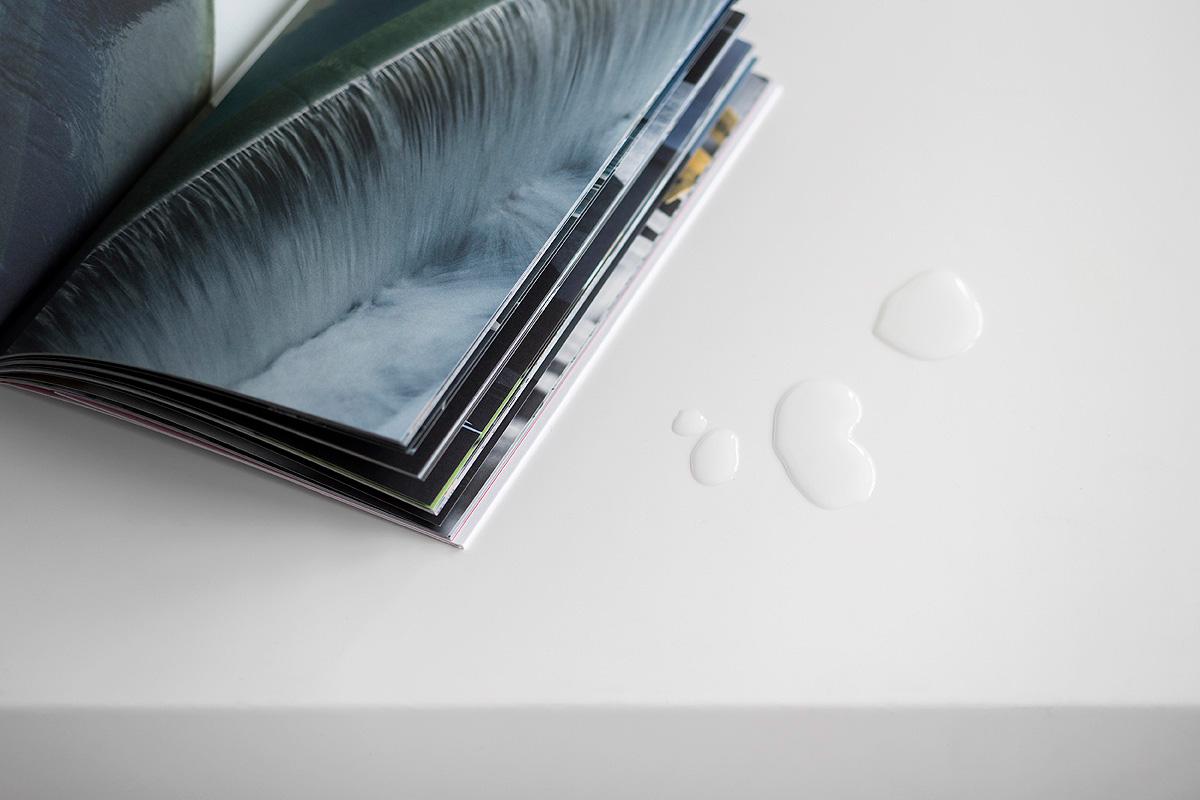 Libro diseño editorial Tecnología viva, Living Technology Acciona Aguas gotas interior