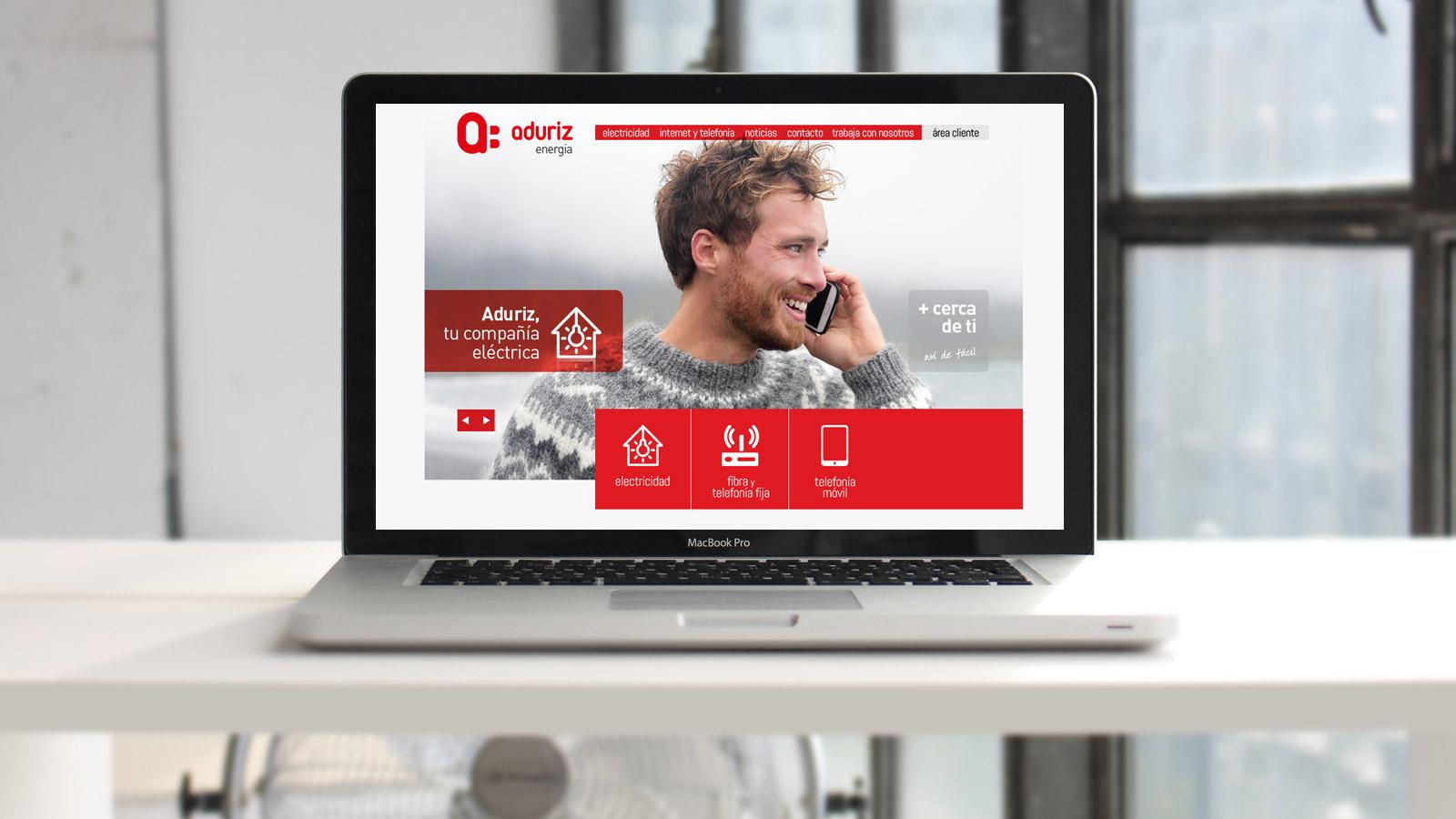 Aduriz Web Marca Branding Logo