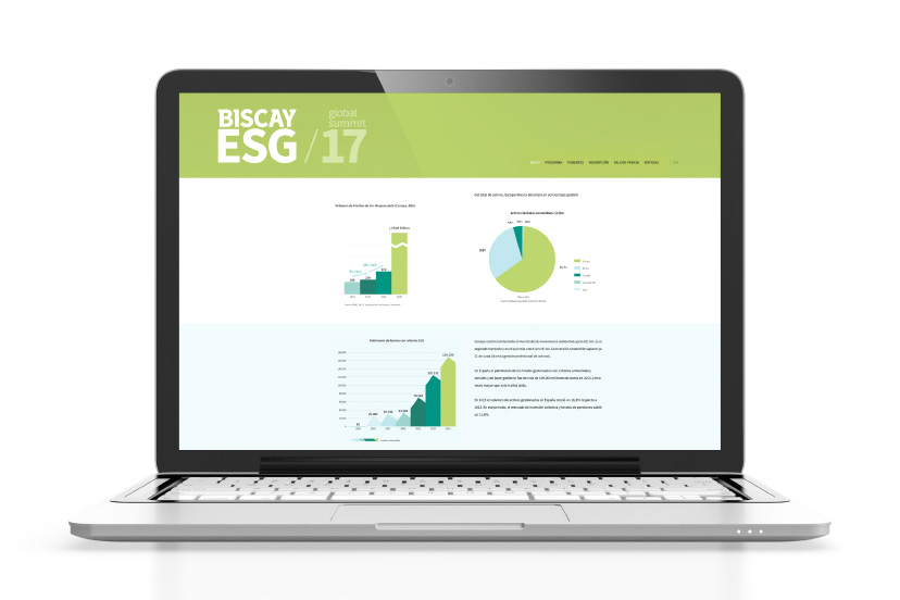 Biscay ESG Global Summit diseño web estrategia corporativa