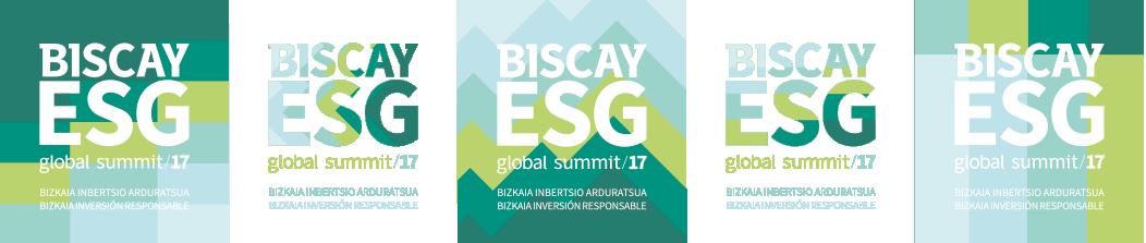 Biscay ESG Global Summit logos evento 2017 diseño gráfico