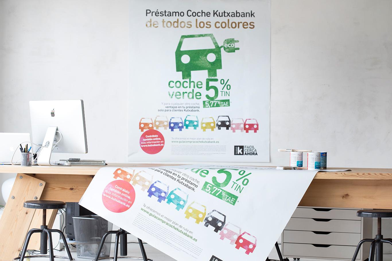 Kutxabank préstamo coche Carteles Campaña de Comunicación