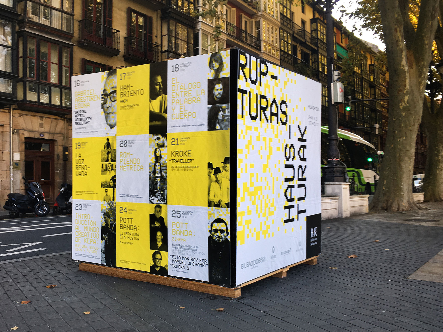 Bilbao poesía calles Bilbao Carteles branding