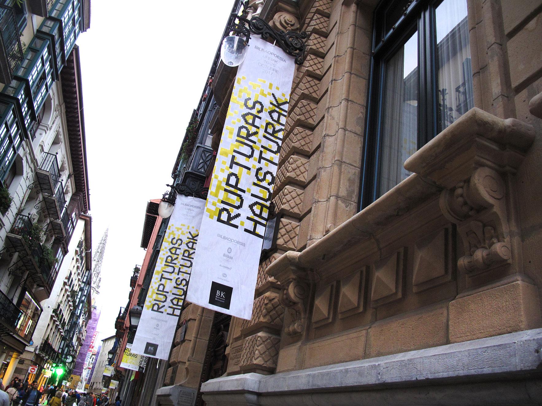 Bilbao poesía publicidad calle
