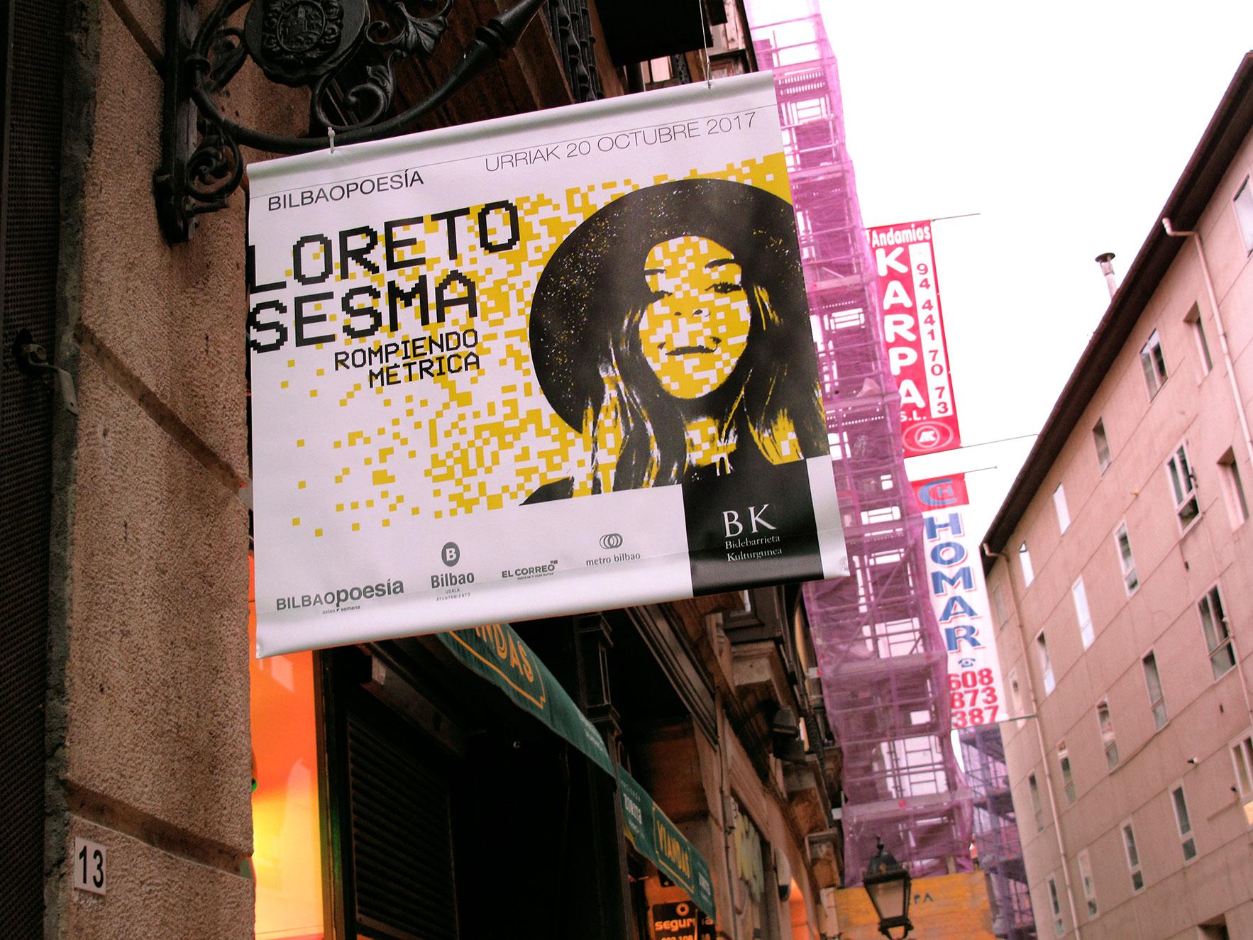 Bilbao poesía cartel calle