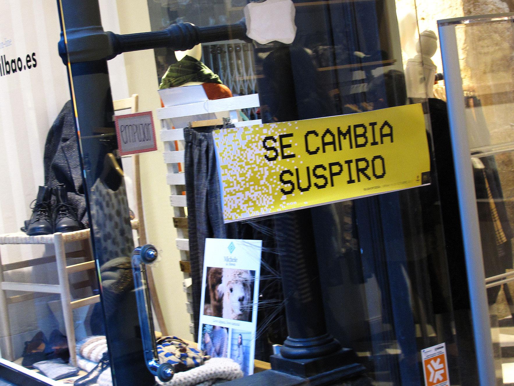 Bilbao poesía escaparate