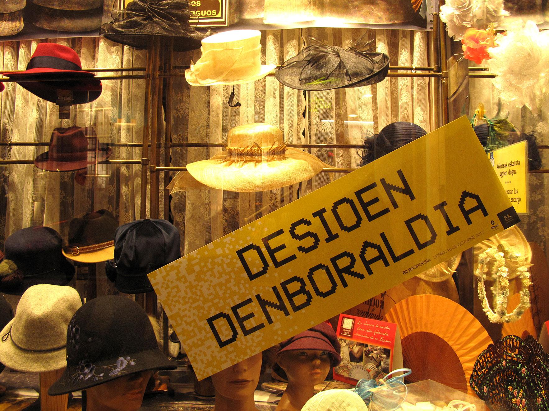 Bilbao poesía escaparate tienda