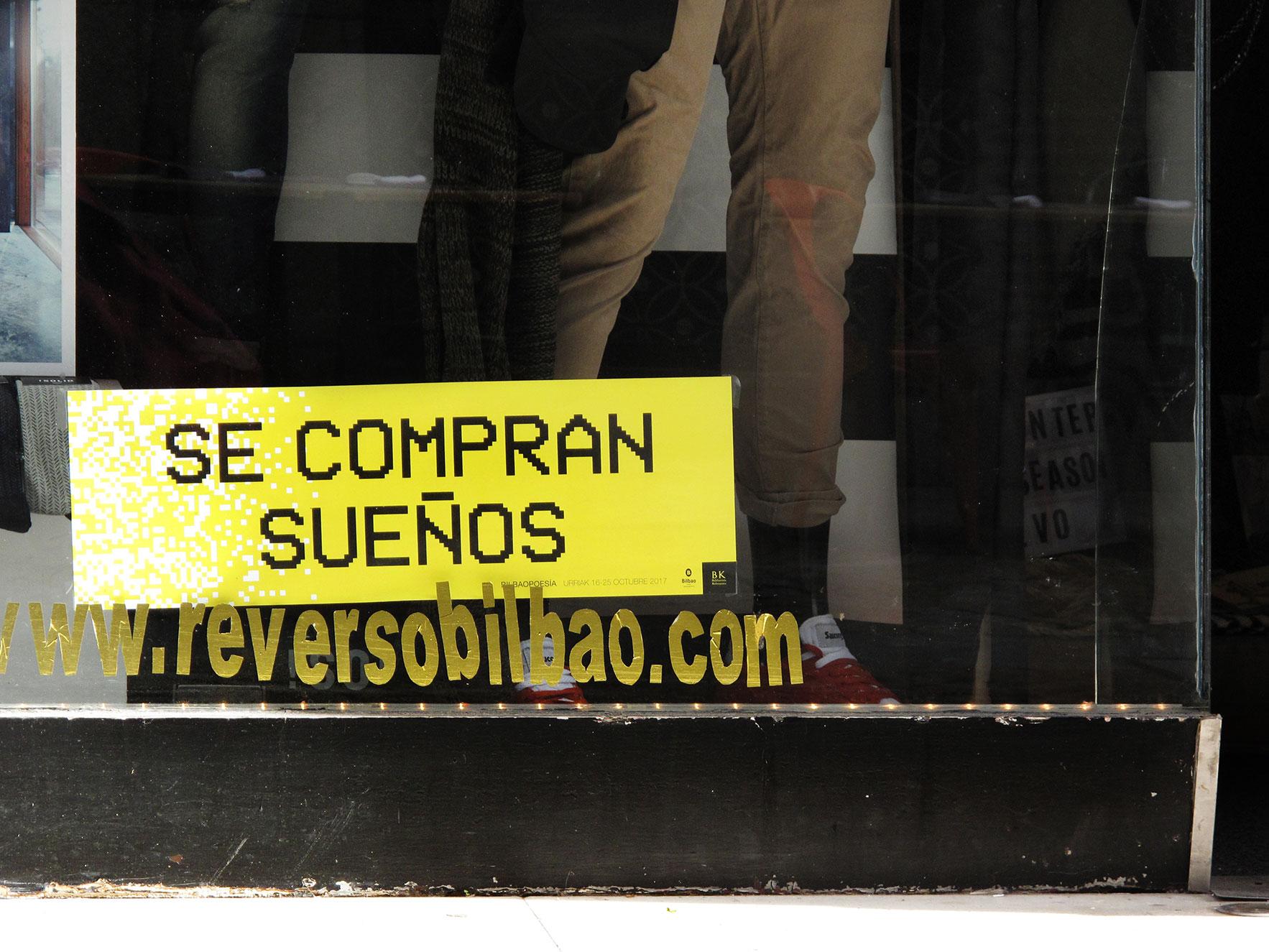 Bilbao poesía tienda escaparate
