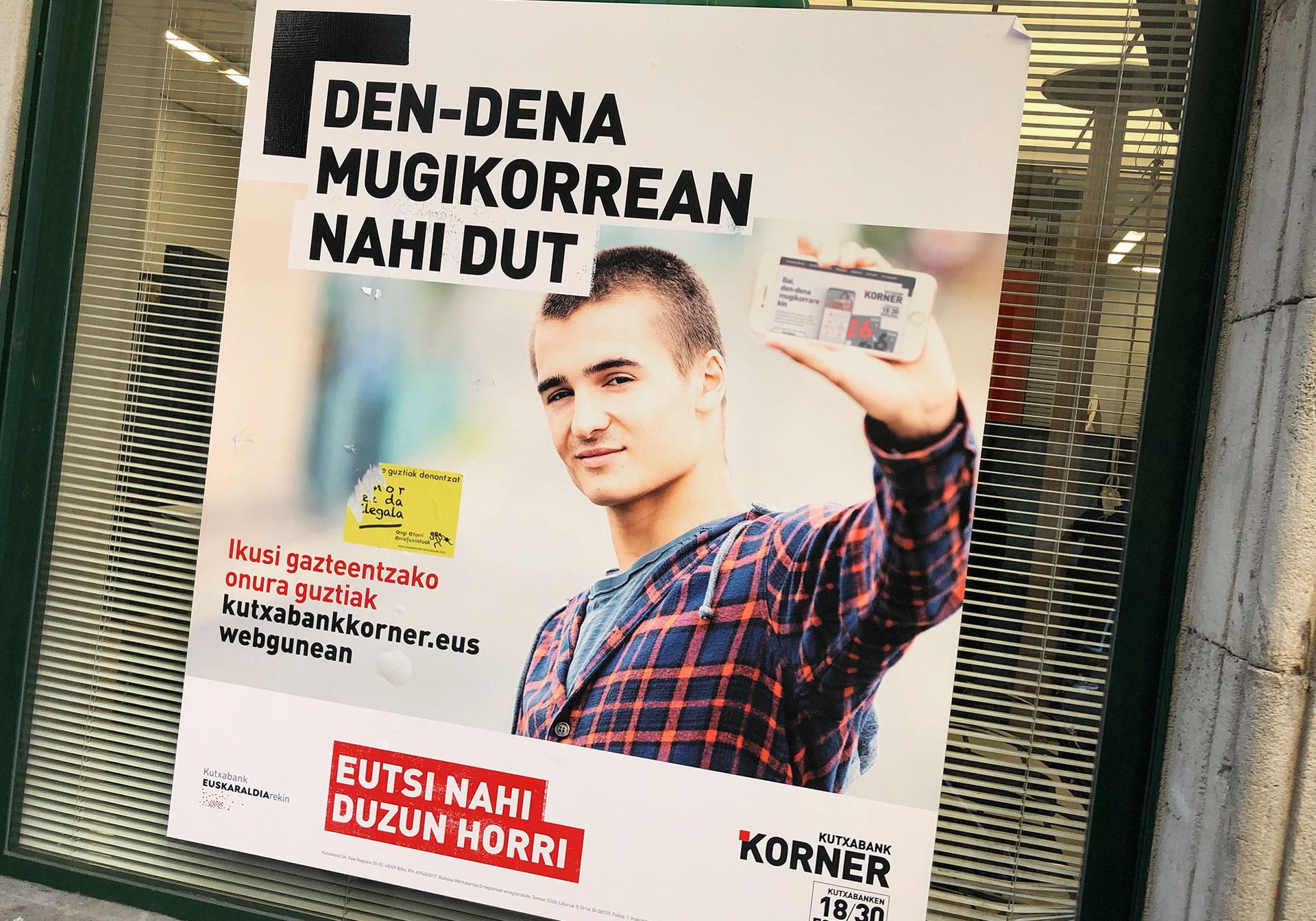 Kutxabank korner web y móvil version euskera