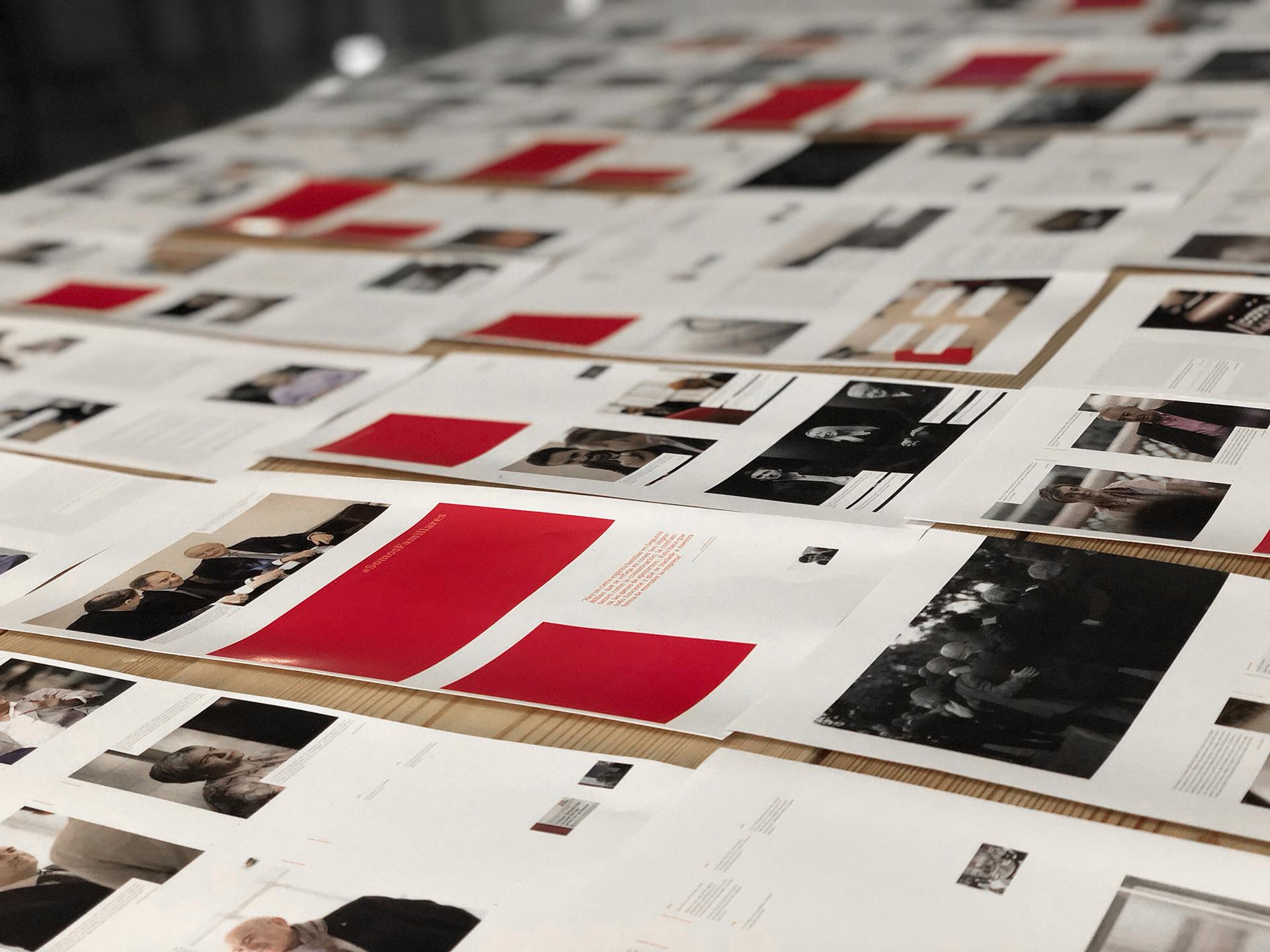 Seguros Bilbao Centenario Diseño editorial plano cerca