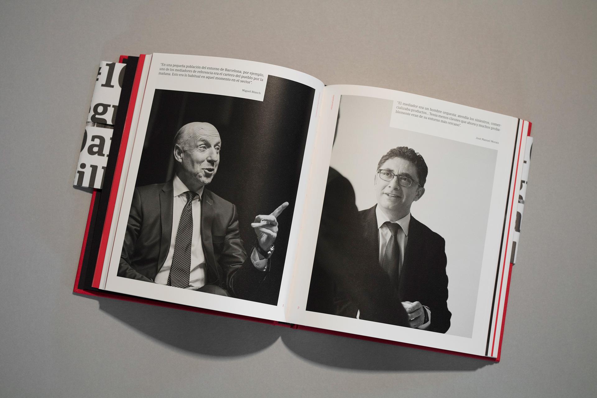 Seguros Bilbao Centenario Diseño editorial libro interior