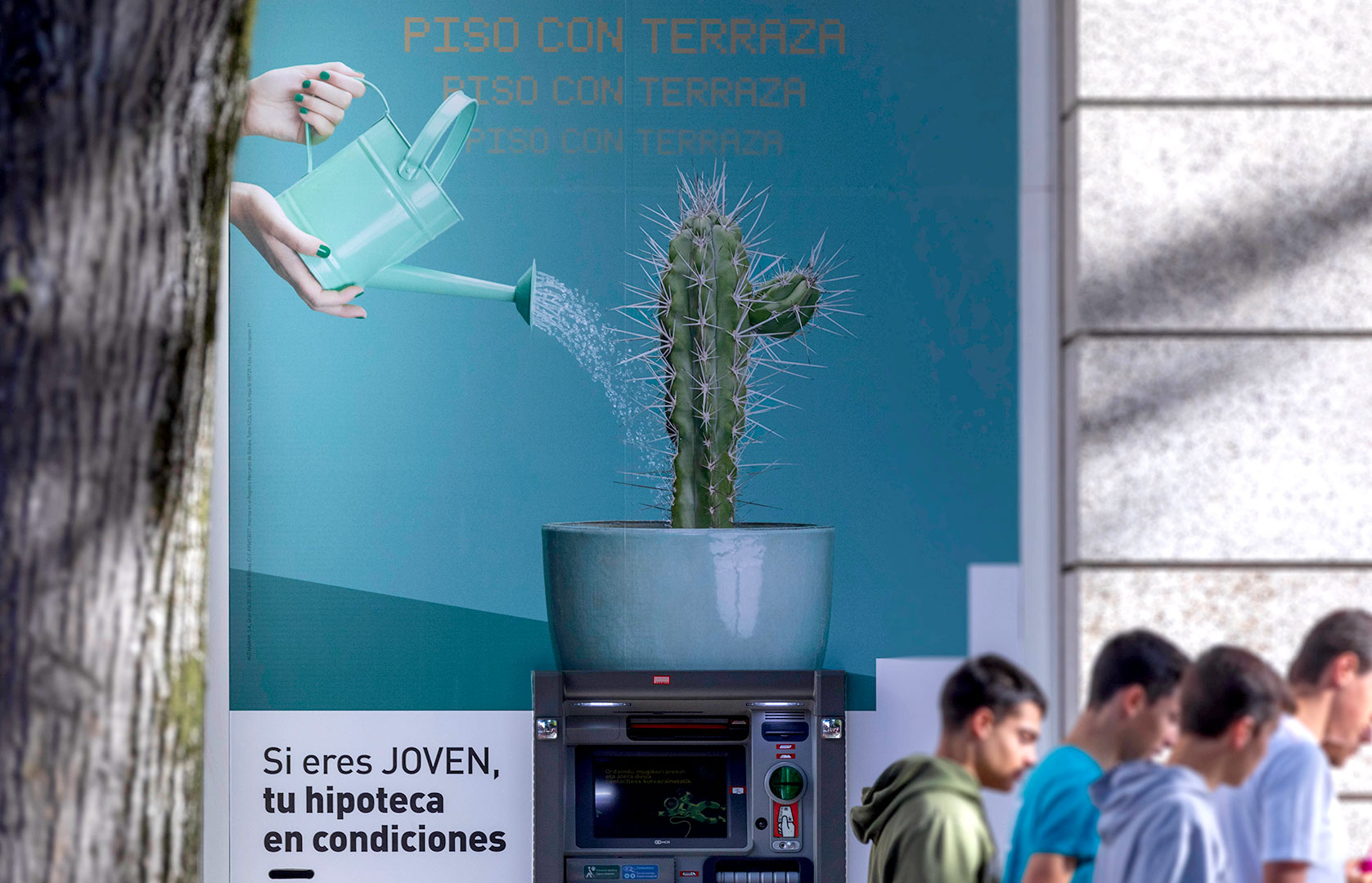 kutxabank korner foto cajero automático Bilbao