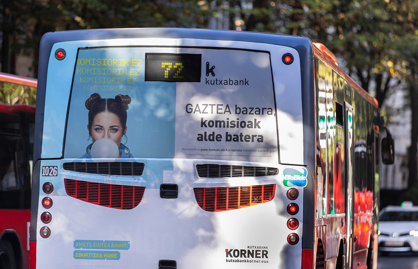 kutxabank korner Bilbobus trasera
