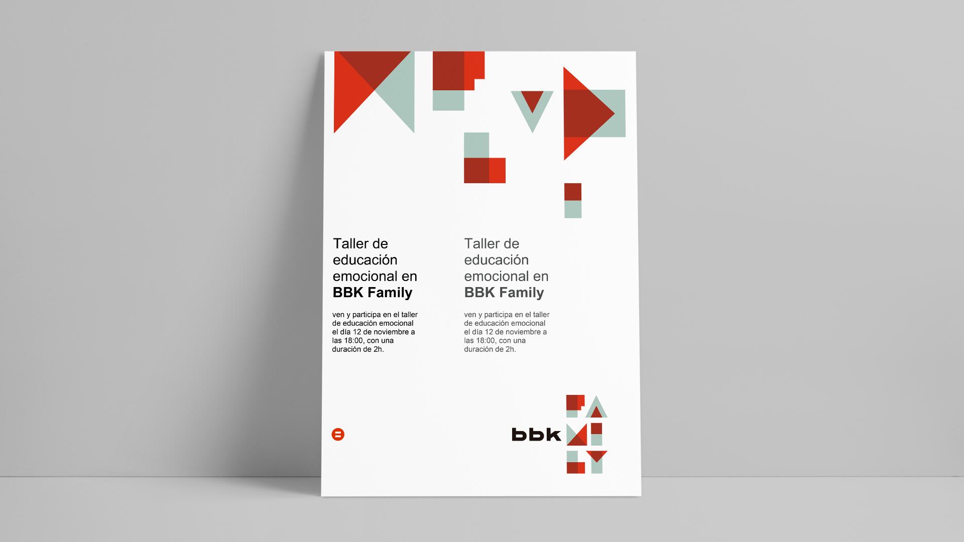 BBK Family eventos diseño editorial Comunicación Corporativa Publicidad