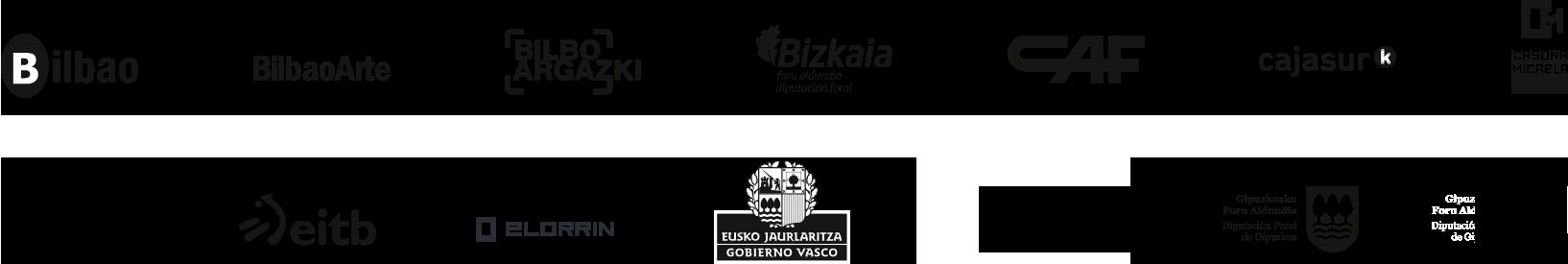 Varios Logos Bilbao Bilbao Arte Bilbo argazki Bizkaia CAF Cajasur Dircom Eitb Elorrin Eusko Jaurlaritza Gobierno Vasco Getxo Udala TR