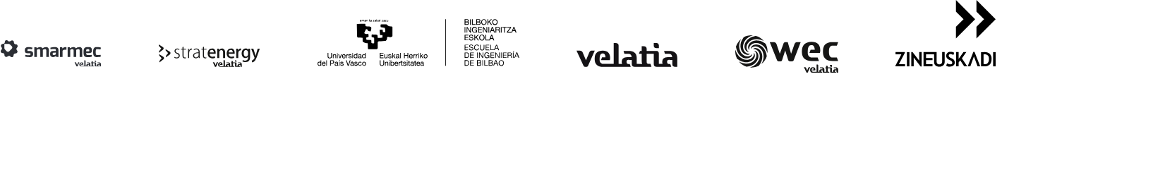 Varios Logos Smarmec Stratenergy UPV EHU Velatia Wec Zineuskadi
